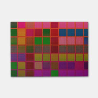 Florescent Cube Pattern Post-it® Notes
