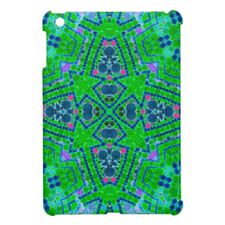 Florescent Green Abstract Pattern iPad Mini Covers