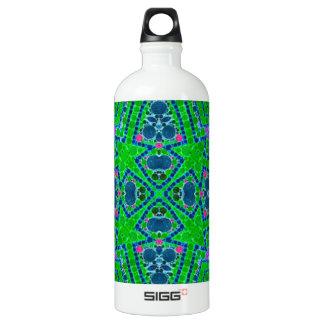 Florescent Green Abstract Pattern SIGG Traveler 1.0L Water Bottle