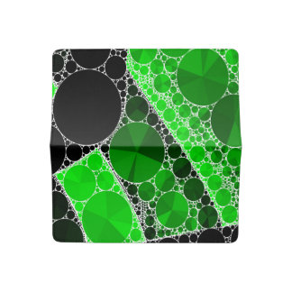 Florescent Green Black Bling Abstract Pattern Checkbook Cover