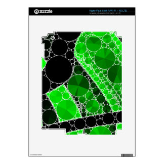 Florescent Green Black Bling Abstract Pattern Skin For iPad 3