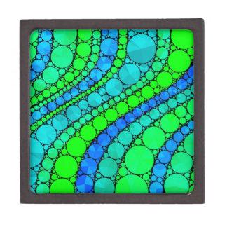 Florescent Green Blue Bling Retro Jewelry Box