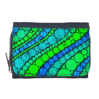 Florescent Green Blue Bling Retro Wallets