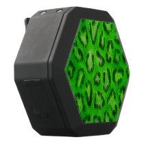 Florescent Green Cheetah Abstract Texture Black Bluetooth Speaker