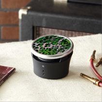 Florescent Green Grey Cheetah Abstract Bluetooth Speaker