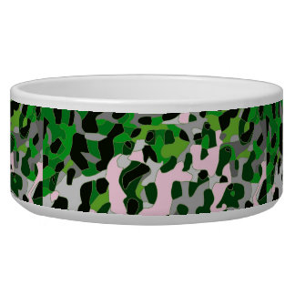 Florescent Green Grey Cheetah Abstract Bowl
