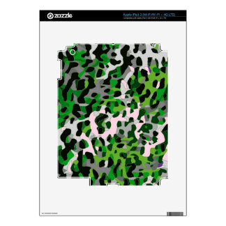 Florescent Green Grey Cheetah Abstract iPad 3 Decal