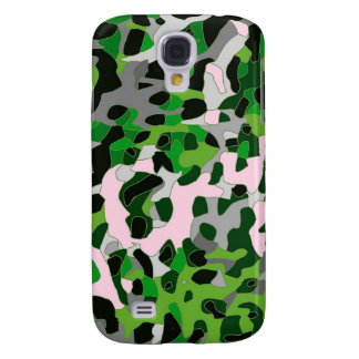 Florescent Green Grey Cheetah Abstract Samsung Galaxy S4 Case