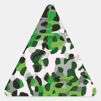 Florescent Green Grey Cheetah Abstract Triangle Sticker