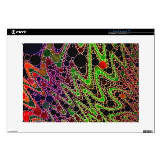 Florescent Green Orange Zigzag Abstract Laptop Skin