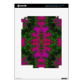 Florescent Green Pink Abstract iPad 3 Decals