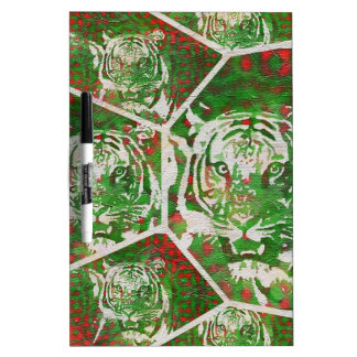 Florescent Green Red Tiger Dry-Erase Board