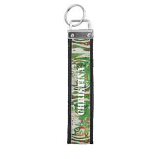 Florescent Green Red Tiger Wrist Keychain
