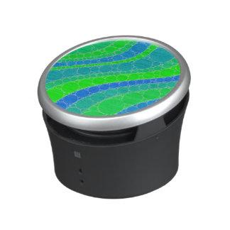 Florescent Green Retro Abstract Bluetooth Speaker