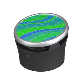 Florescent Green Retro Abstract Bluetooth Speaker