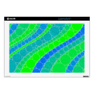 Florescent Green Retro Abstract Decal For Laptop
