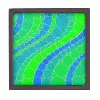 Florescent Green Retro Abstract Jewelry Box