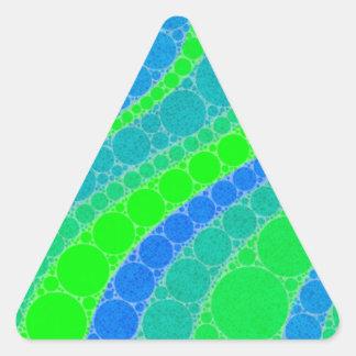 Florescent Green Retro Abstract Triangle Sticker