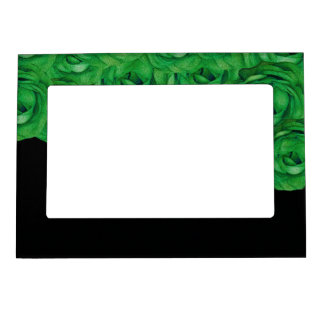 Florescent Green Roses Magnetic Photo Frame