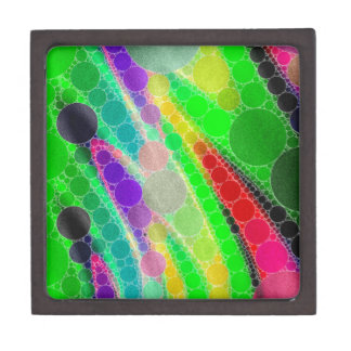 Florescent Green Yellow Abstract Gift Box