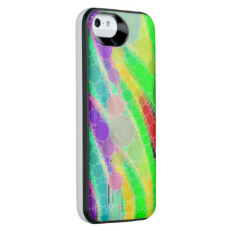 Florescent Green Yellow Abstract iPhone SE/5/5s Battery Case