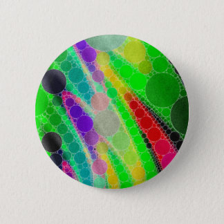 Florescent Green Yellow Abstract Pinback Button