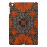 Florescent Orange and grey Fractal Kelidescopee iPad Mini Cases