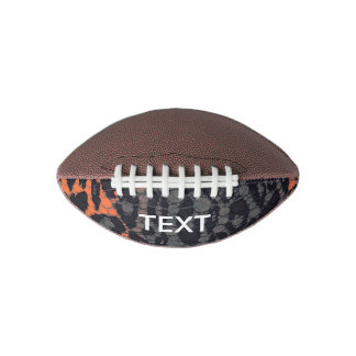 Florescent Orange Black Leopard Football