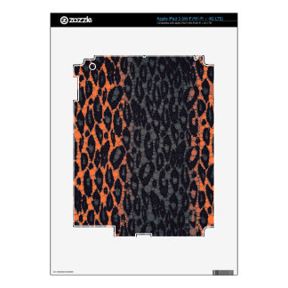 Florescent Orange Black Leopard iPad 3 Skins