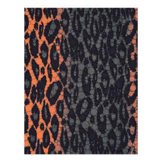 Florescent Orange Black Leopard Letterhead
