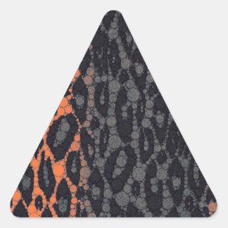 Florescent Orange Black Leopard Triangle Sticker