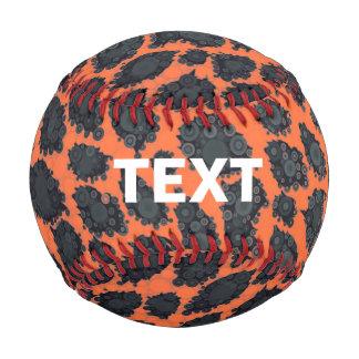 Florescent Orange Cheetah Baseball