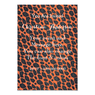 Florescent Orange Cheetah Card