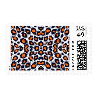 Florescent Orange Cheetah Postage