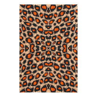 Florescent Orange Cheetah Queork Photo Prints