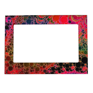Florescent Orange Green Pink Abstract Magnetic Frame