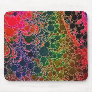 Florescent Orange Green Pink Abstract Mouse Pad
