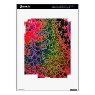 Florescent Orange Green Pink Abstract Skins For iPad 3