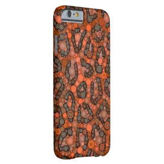 Florescent Orange Grey Cheetah Barely There iPhone 6 Case