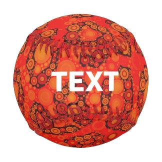 Florescent Orange Red Cheetah Abstract Baseball