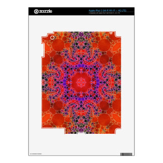 Florescent Orange Unique Abstract Pattern Decal For iPad 3