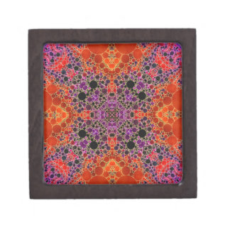 Florescent Orange Unique Abstract Pattern Gift Box