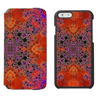 Florescent Orange Unique Abstract Pattern iPhone 6/6s Wallet Case