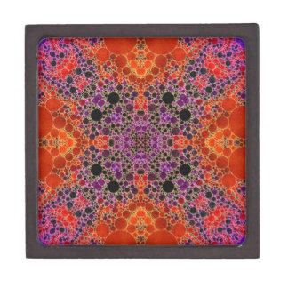 Florescent Orange Unique Abstract Pattern Keepsake Box
