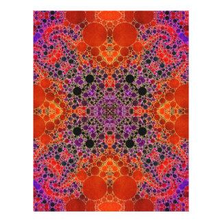 Florescent Orange Unique Abstract Pattern Letterhead