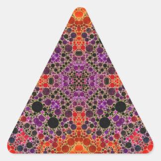 Florescent Orange Unique Abstract Pattern Triangle Sticker