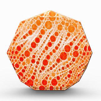 Florescent Orange Zebra Abstract Acrylic Award