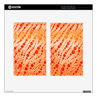Florescent Orange Zebra Abstract Kindle Fire Decal