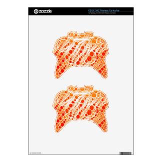 Florescent Orange Zebra Abstract Xbox 360 Controller Skins