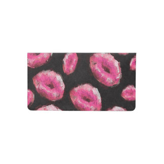 Florescent Pink Abstract Lips Checkbook Cover